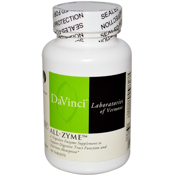 DaVinci Laboratories of Vermont, All-Zyme, 90 таблеток