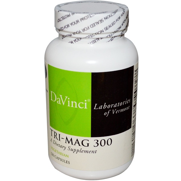 DaVinci Laboratories of Vermont, Tri-Mag 300, 120 Capsules (Discontinued Item)