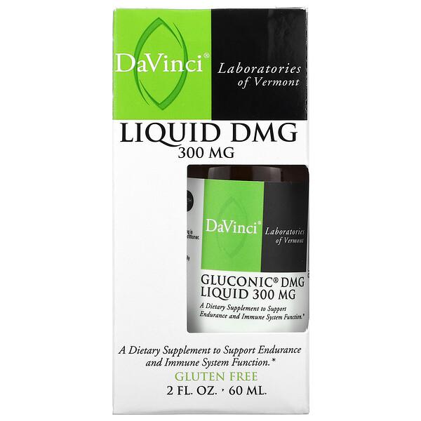 DaVinci Laboratories of Vermont, Gluconic DMG Liquid, 300 mg, 2 fl oz (60 ml)