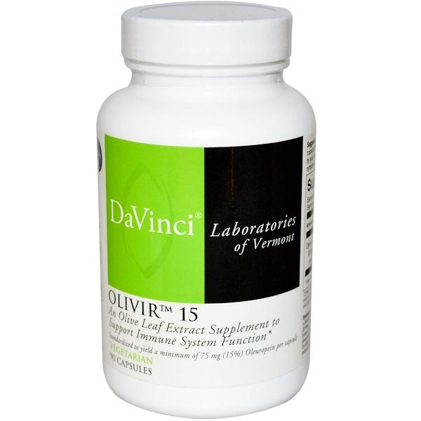 DaVinci Laboratories of Vermont, Olivir 15, 90 Capsules (Discontinued Item)