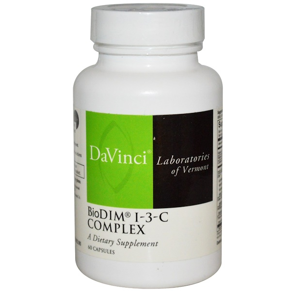 DaVinci Laboratories of Vermont, BioDim I-3-C Complex, 60 Capsules (Discontinued Item)