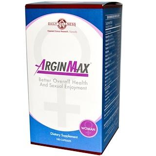 Daily Wellness Company, ArginMax для женщин, 180 капсул