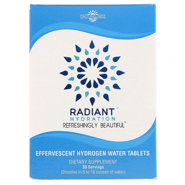 Radiant Hydration, 30 Effervesecent Hydrogen Water Tablets