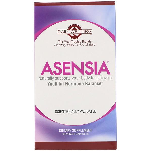 Asensia, Youthful Hormone Balance, 90 Veggie Capsules