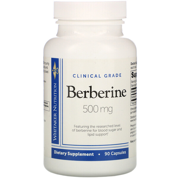 Dr. Whitaker, Clinical Grade, Berberine, 500 mg, 90 Capsules