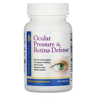 Whitaker Nutrition, 眼壓視網膜健康支持膠囊,30 粒裝