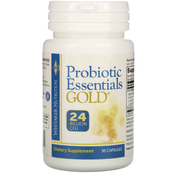 Dr. Whitaker, Probiotic Essentials Gold, 24 Billion CFU, 30 Capsules
