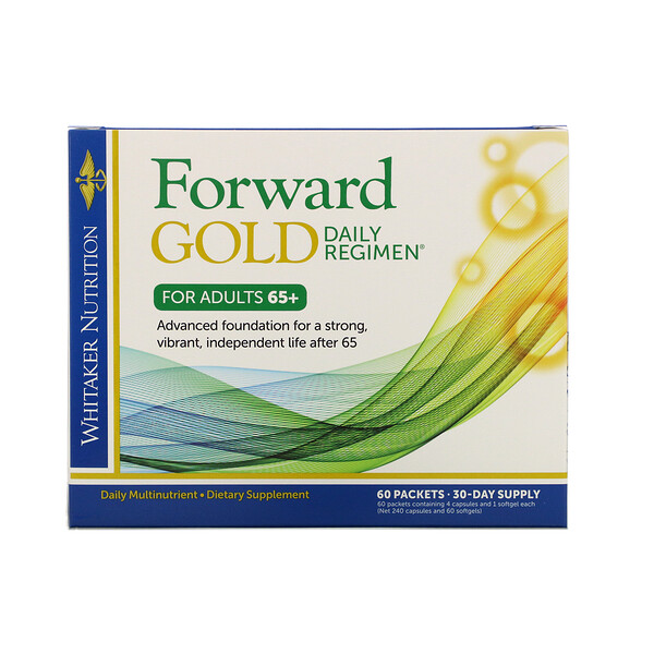 Forward Gold Daily Regimen, For Adults 65+, 60 Packets