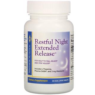 Whitaker Nutrition, 緩釋安睡片,30 片裝