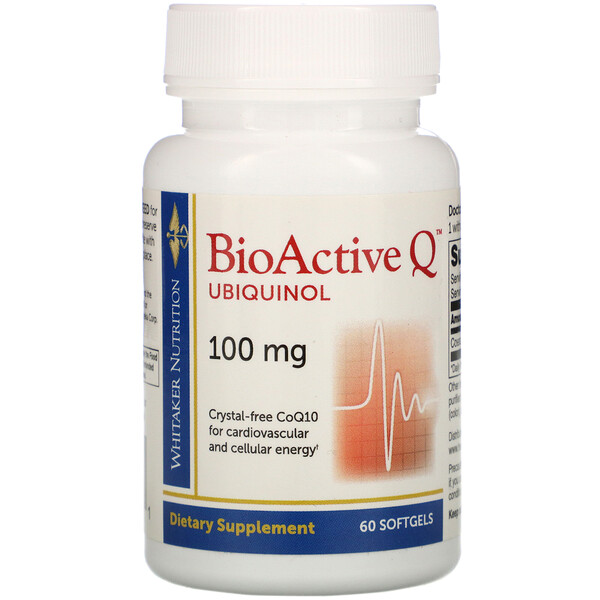 BioActive Q Ubiquinol, 100 mg, 60 Softgels
