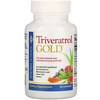 Купить Dr. Whitaker Triveratrol Gold, 60 Capsules
