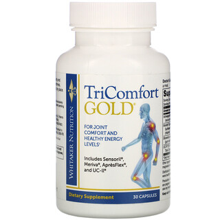 Whitaker Nutrition, TriComfort Gold, 30 Capsules