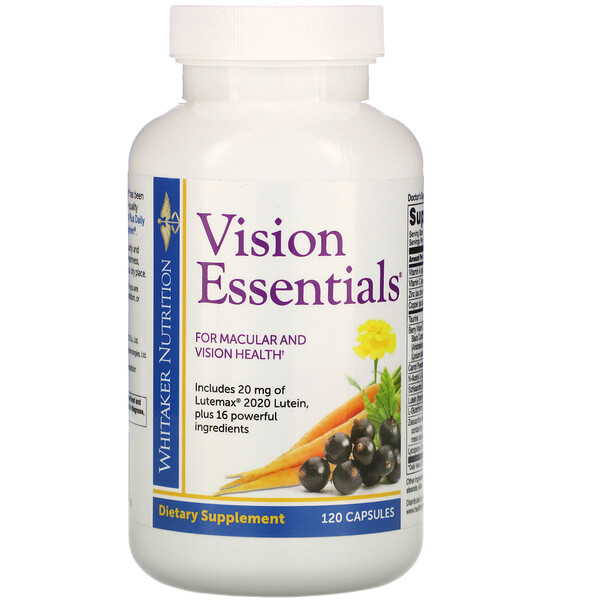Dr. Whitaker, Vision Essentials, 120 Capsules