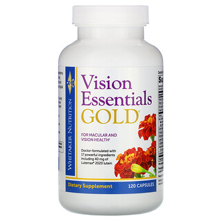 Whitaker Nutrition, Vision Essentials Gold, 120 Capsules