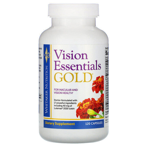 Dr. Whitaker, Vision Essentials Gold, 120 Capsules