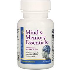 Whitaker Nutrition, 精神和記憶精華,30 粒膠囊