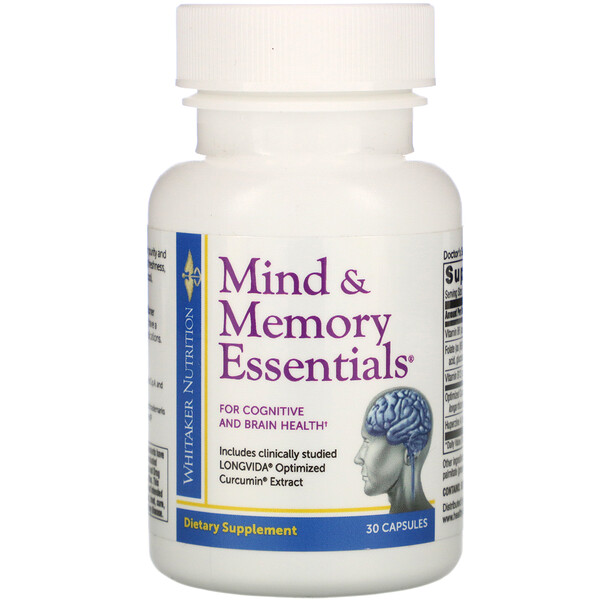 Dr. Whitaker, Mind & Memory Essentials, 30 Capsules