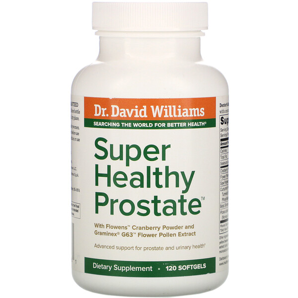 Dr. Williams, Super Healthy Prostate, 120 Softgels