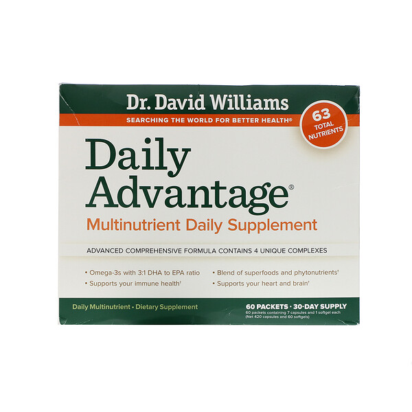 Daily Advantage,  Multinutrient Daily Supplement, 60 Packets