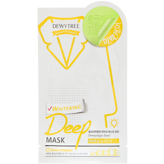 Dewytree, Отбеливающая маска глубокого действия, 1 шт., 27 г