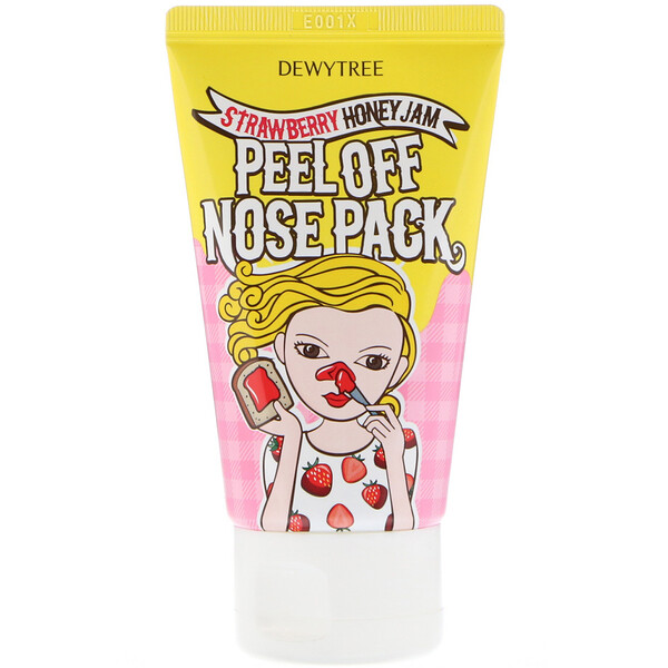Dewytree, 1 Step Nose Care, Peel Off Nose Pack, Strawberry Honey Jam, 70 ml (Discontinued Item)