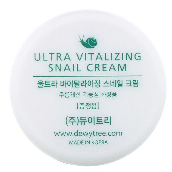 Dewytree, Crema ultravitalizante con baba de caracol, 10ml (Discontinued Item)