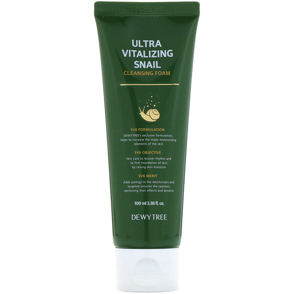 Ultra Vitalizing Snail Cleansing Foam, 3.38 fl oz (100 ml)