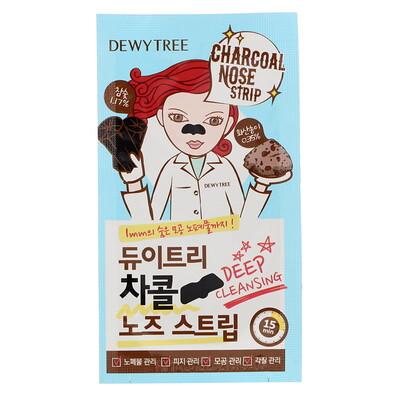 Купить Dewytree Угольная полоска для носа с вулканическим пеплом, 10 листов
