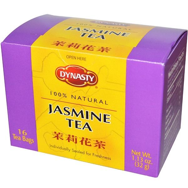 Dynasty, Жасминовый чай, 16 чайных пакетиков, 1.13 унций (32 г) (Discontinued Item)