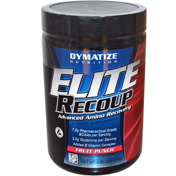 Dymatize Nutrition, Elite Recoup, Advanced Amino Recovery, Fruit Punch, 0.82 lbs (370 g) (Discontinued Item)