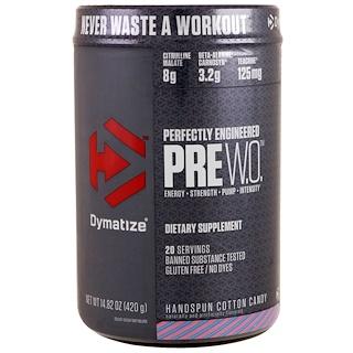 Dymatize Nutrition, Pre W.O., Handspun Cotton Candy, 14.82 oz (420 g)
