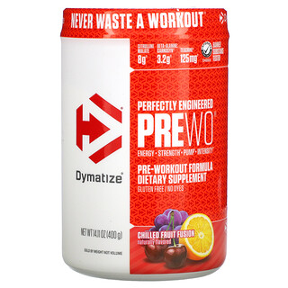 Dymatize Nutrition, Perfectly Engineered Pre WO, Pre-Workout Formula, Chilled Fruit Fusion, 14.11 oz (400 g)