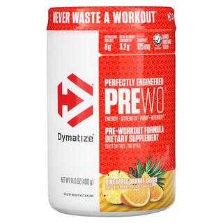 Dymatize Nutrition, Perfectly Engineered Pre WO, предтренировочная добавка, ананас и апельсин, 400г (14,11унции)