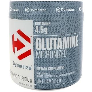 Dymatize Nutrition, Glutamine Micronized, 17.64 oz (500 g)