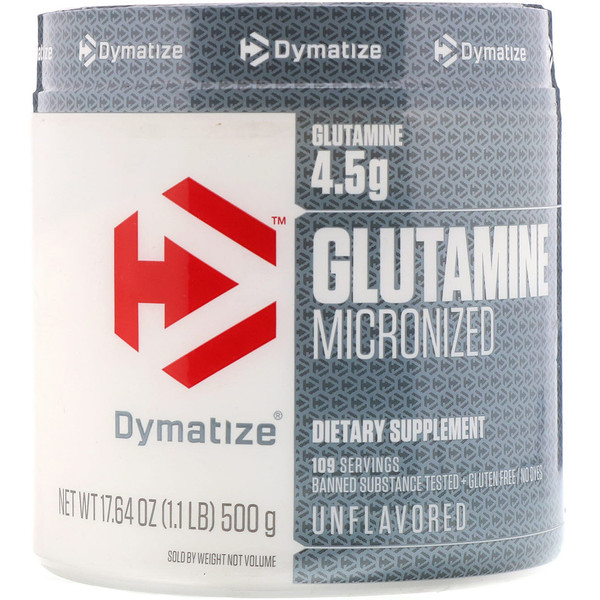 Dymatize Nutrition, Glutamine Micronized, Unflavored, 17.64 oz (500 g) (Discontinued Item)