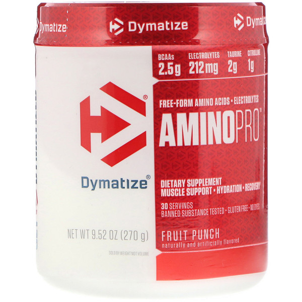 Dymatize Nutrition, AminoPro, Fruit Punch, 9.52 oz (270 g) (Discontinued Item)