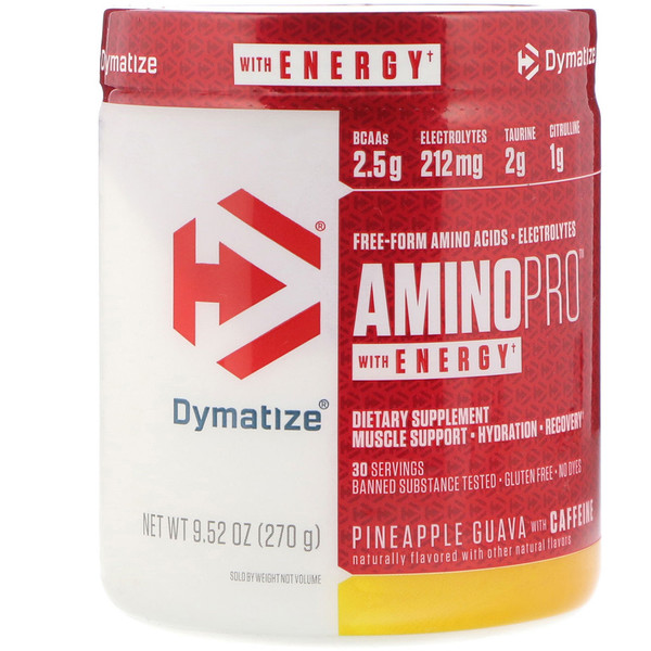 AminoPro with Energy, Pineapple Guava, 9.52 oz (270 g)
