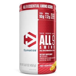 Dymatize Nutrition, ALL9AMINO, Fruit Fusion Rush, 15.87 (450 g)