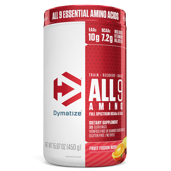 Dymatize Nutrition, ALL9AMINO, Fruit Fusion Rush, 15.87 (450 g)