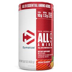 Dymatize Nutrition, 全部 9 種氨基,橙蔓越莓味,15.87 盎司(450 克)
