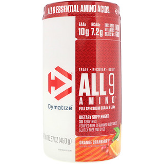 Dymatize Nutrition, All 9 Amino, Orange Cranberry, 15.87 oz (450 g)
