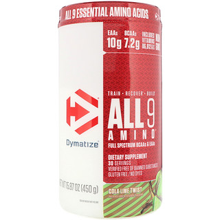 Dymatize Nutrition, All 9 Amino, Cola Lime Twist, 15.87 oz (450 g)