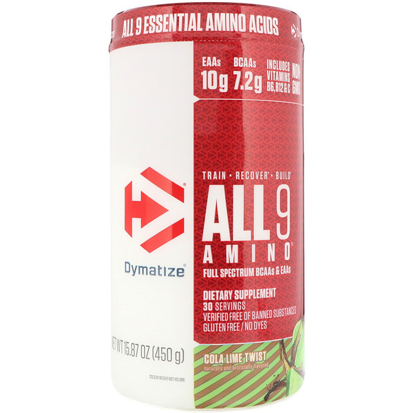 ALL9AMINO, Cola Lime Twist, 15.87 oz (450 g)