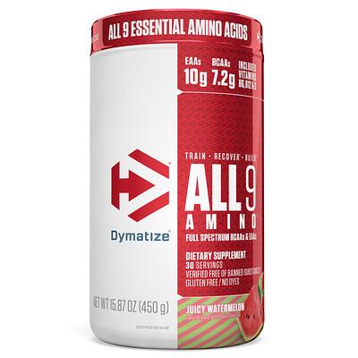 Купить Dymatize Nutrition All 9 Amino, сочный арбуз, 450г (15, 87унции)