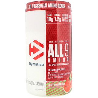 Dymatize Nutrition, All 9 Amino, Juicy Watermelon, 15.87 oz (450 g)
