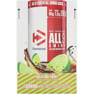 Dymatize Nutrition, All 9 Amino, Cola Lime Twist, 0.54 oz (15.2 g)