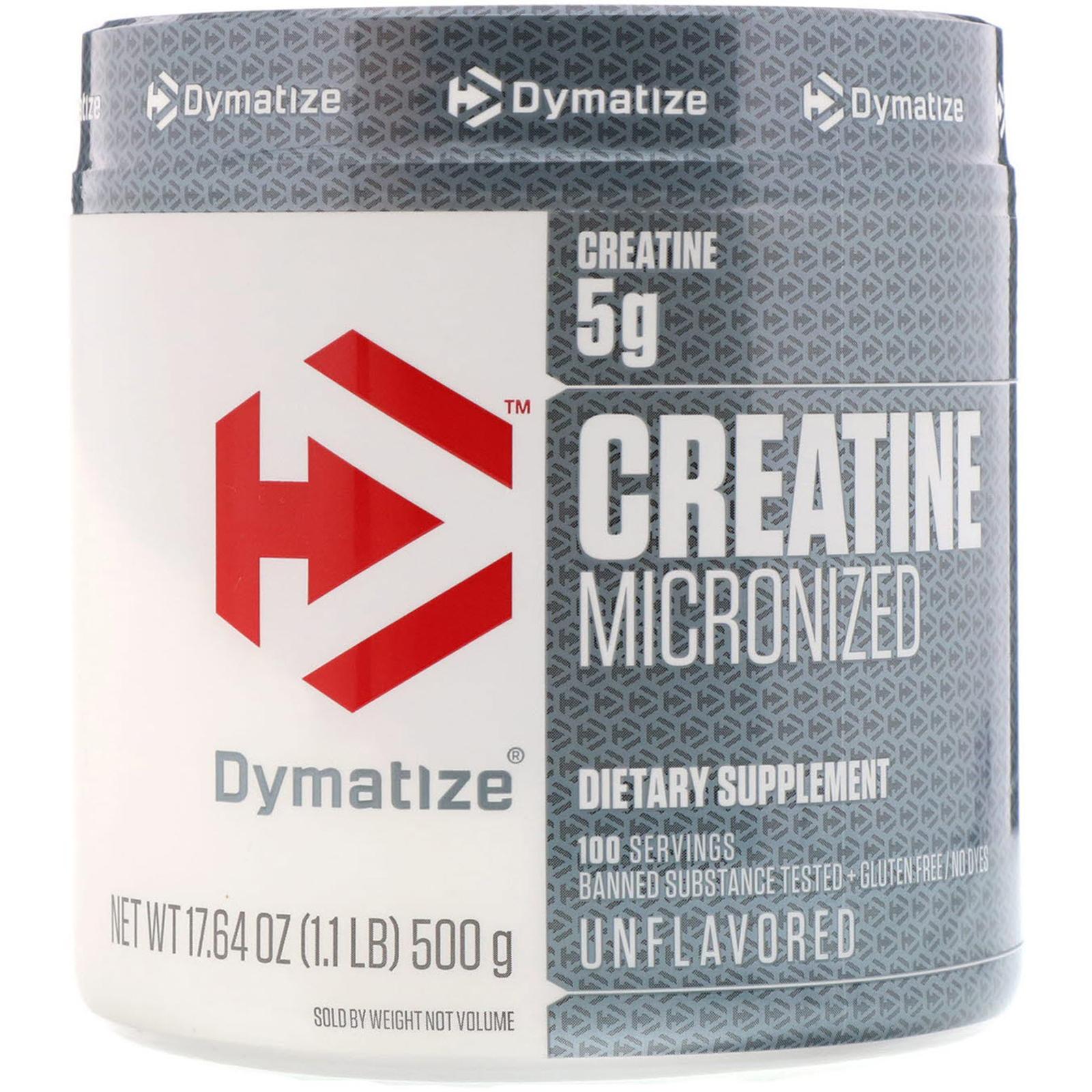 Dymatize Nutrition Creatine Micronized 1764 Oz 500 G Rsp Monohydrate Gram