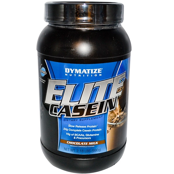 Dymatize Nutrition, Elite Casein, Slow Release Protein, Chocolate Milk, 2.18 lbs (990 g) (Discontinued Item)