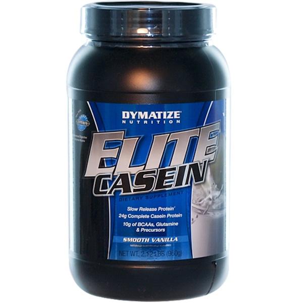 Dymatize Nutrition, Elite Casein, Smooth Vanilla, 2.12 lbs (960 g) (Discontinued Item)