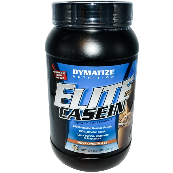 Dymatize Nutrition, Elite Casein, Rich Chocolate, 2.0 lbs (909 g) (Discontinued Item)